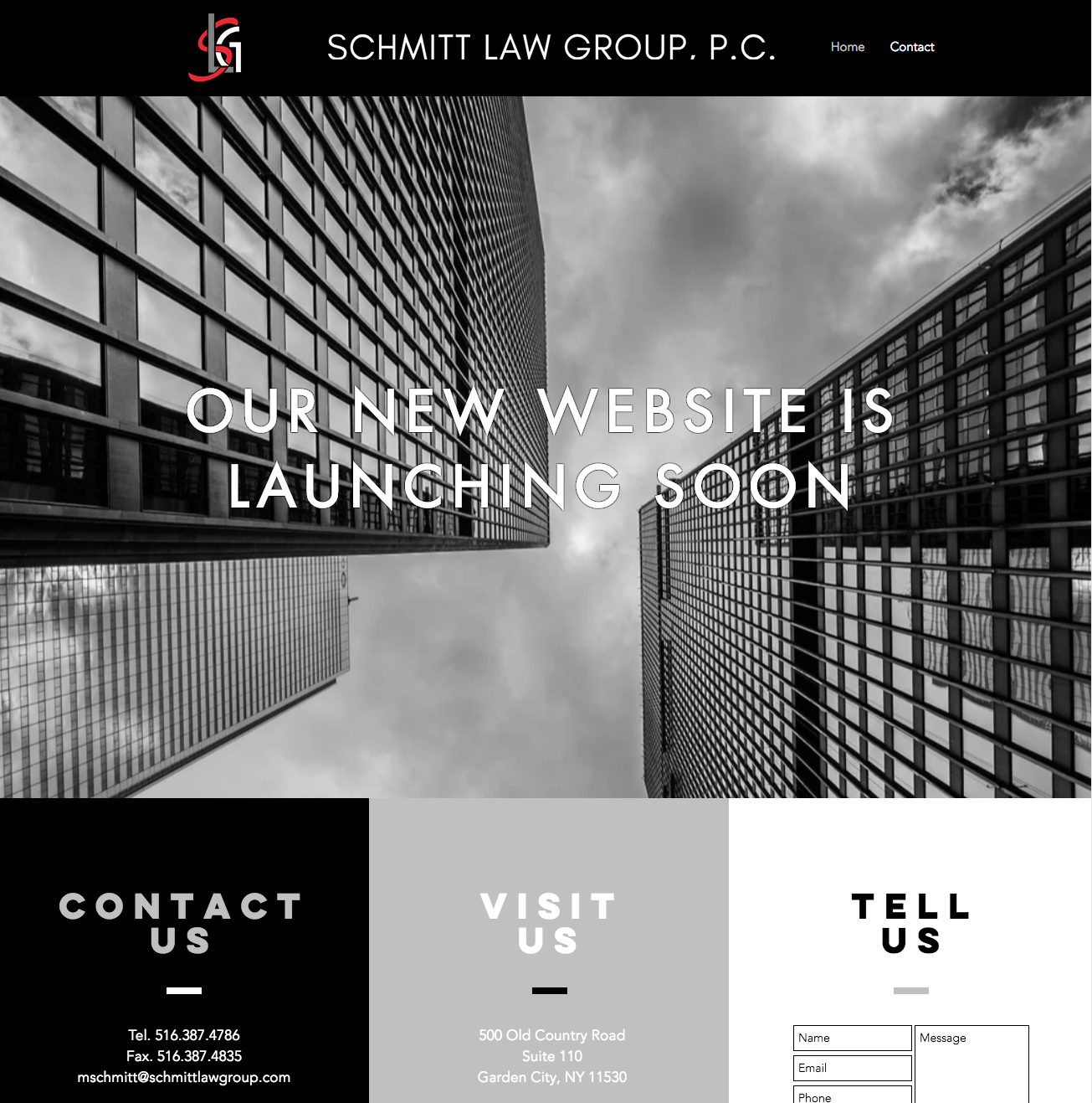 Schmitt Law Group Landing Page