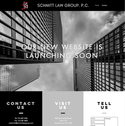 Schmitt Law Group Landing Page
