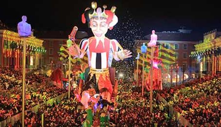 Beginning of Carnaval de Nice 2017