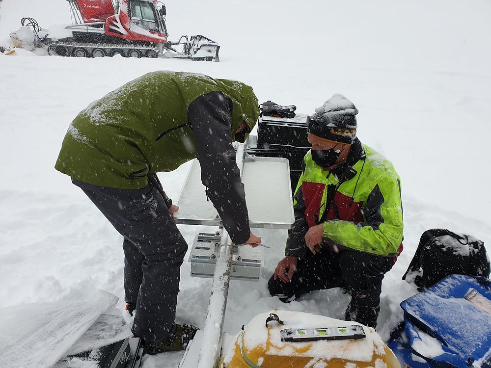 Lawinentrainingsanlage Minschuns ATC Avalanche Training Center; Skigebiet; Naturpark;