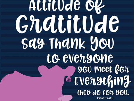 We Need That Attitude of Gratitude