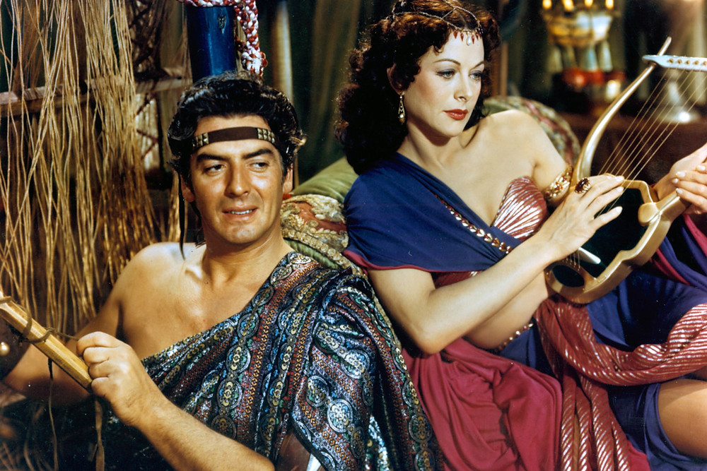 Victor Mature and Hedy Lamarr in 'Samson and Delilah' (1949)
