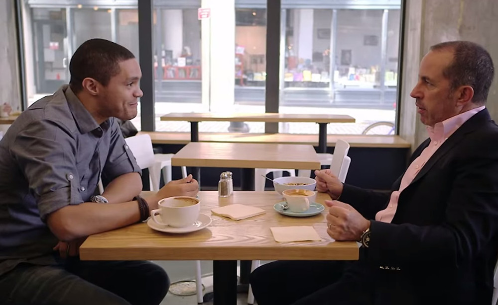 """Trevor Noah and Jerry Seinfeld: """"Comedians in Cars Getting Coffee"""""""