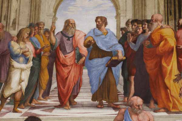 'The School of Athens' by Raphael, in the Apostolic Palace, The Vatican