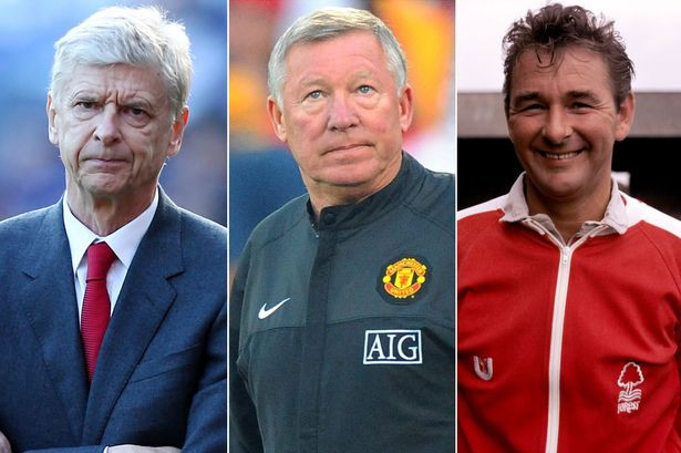 Wenger, Ferguson, Clough : three of the exceptionals