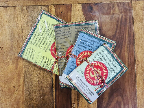 Set of 4 Handmade Pastel recycled notebooks with Aum - Handmade for Sabirian