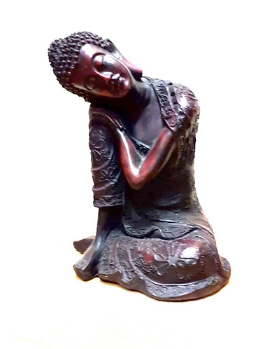 Enchanting handmade Resin Leaning Buddha statue - Handmade for sabirian