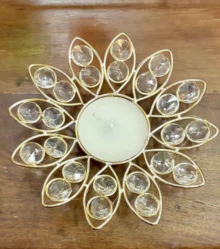 Hand made gem encrusted tea light holder