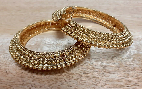 Handmade Indian Wedding Bangles with opening set of two - Handmade for Sabirian