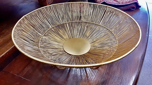 Indian metal wire basket fruit bowl