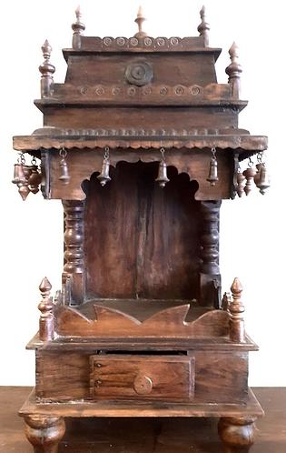 Hand-carved Original Vintage Wooden Hindu Shrine Temple - Sabirian