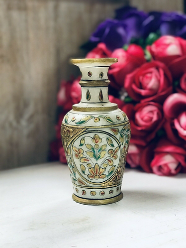 Hand-painted Small Marble Vase - Made For Sabirian