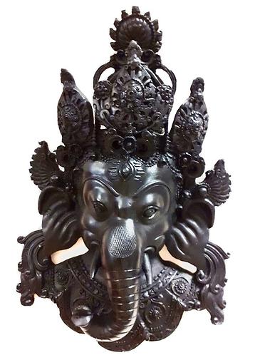 Lord Ganesha Resin Wall Decoration - Handmade For Sabirian