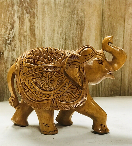 Hand-carved Wooden Elephant - Made For Sabirian