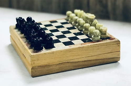 Handmade Traditional Stone Chess Set - Made For Sabirian