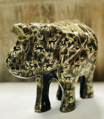 Handmade papier-mache Wooden elephant - Made For Sabirian