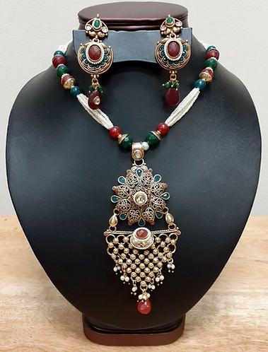 Handmade Traditional Indian Wedding Jewellery Set - Handmade for Sabirian