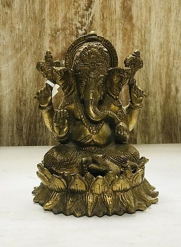 Metal Lost Wax Ganesha Statue - Made For Sabirian