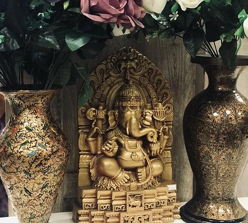 15�� Golden Coloured Lord Ganesha Statue - Handmade For Sabirian