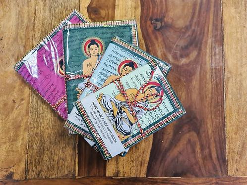 Set of 4 Handmade recycled notebooks with Buddha - Handmade for Sabirian