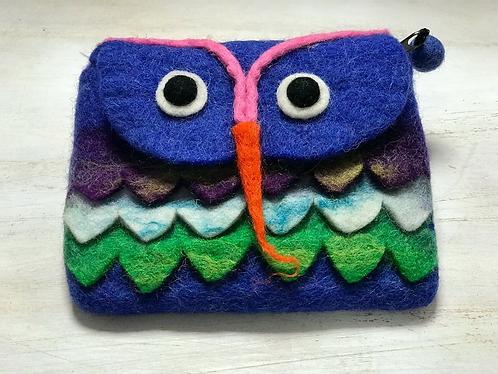 Handmade owl felt Purse - Handmade for Sabirian