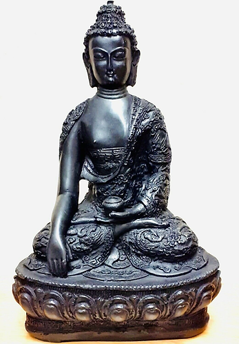 10� Marble Resin Buddha Statue - Handmade for Sabirian