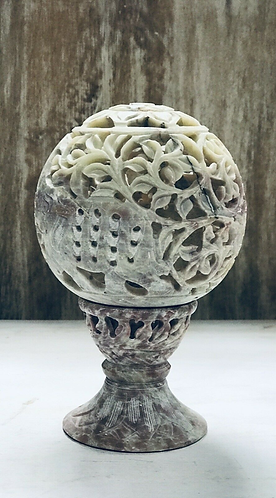 Hand-carved Marble Tea Light/incense Holder - Made For Sabirian