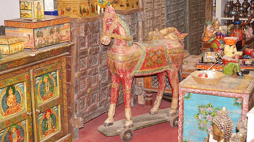Wooden Vintage Horse on Wheels (NOT included in Buy One Get One Free Sale)