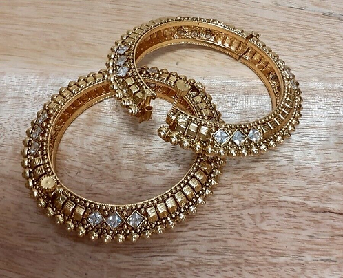 Handmade Indian Wedding Bangles with opening set of two- Handmade for Sabirian