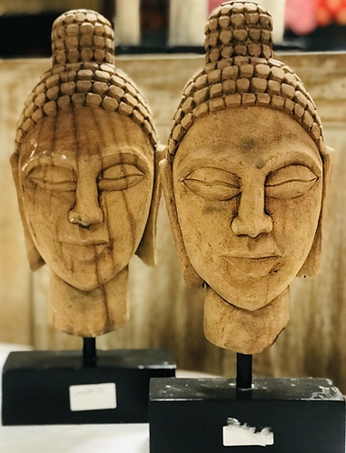 Handcarved Buddha Set of 2 - Made For Sabirian