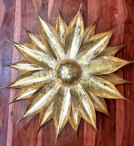 Golden Leaf Effect Sunflower Wall Decoration