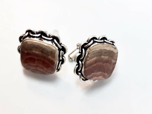 Gradient Semi-Precious Stone Cufflinks in Gift Box Handmade in India - Sabirian