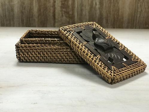 Handmade Straw/ Wood Jewellery Box - Made For Sabirian