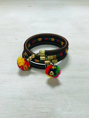 Handmade Adjustable Fabric coated bracelets - Handmade for Sabirian