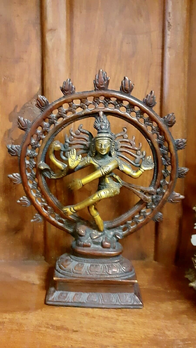 Hand moulded Metal Shiva, Lord of the dance (Nataraja) Statue
