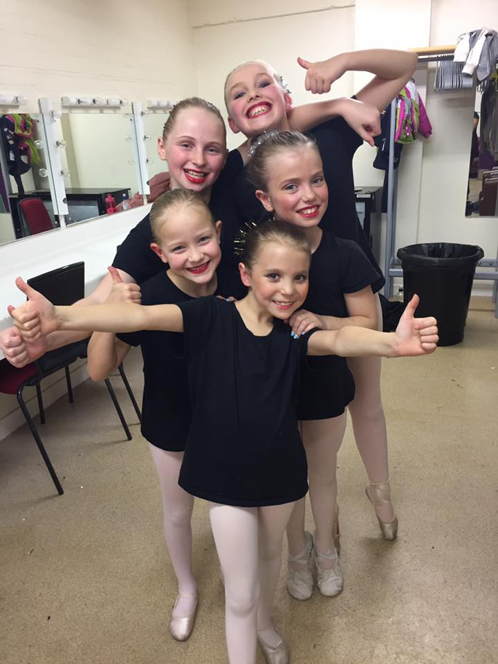Backstage before our dance at the Show Choir concert in Dorking