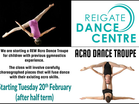 Dance Troupe starting at Reigate Dance Centre