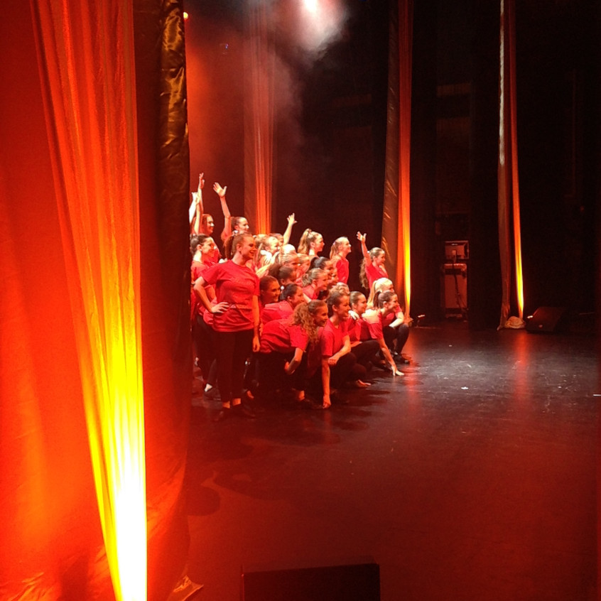 Reigate School of Dance pupils on stage in Pasha's opening night of Uk tour in Redhill.