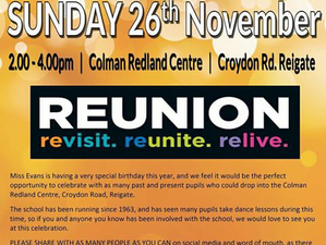 Reigate Dance Centre Reunion Party