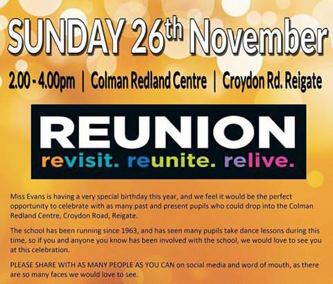 Reigate Dance Centre THE BIG REUNION