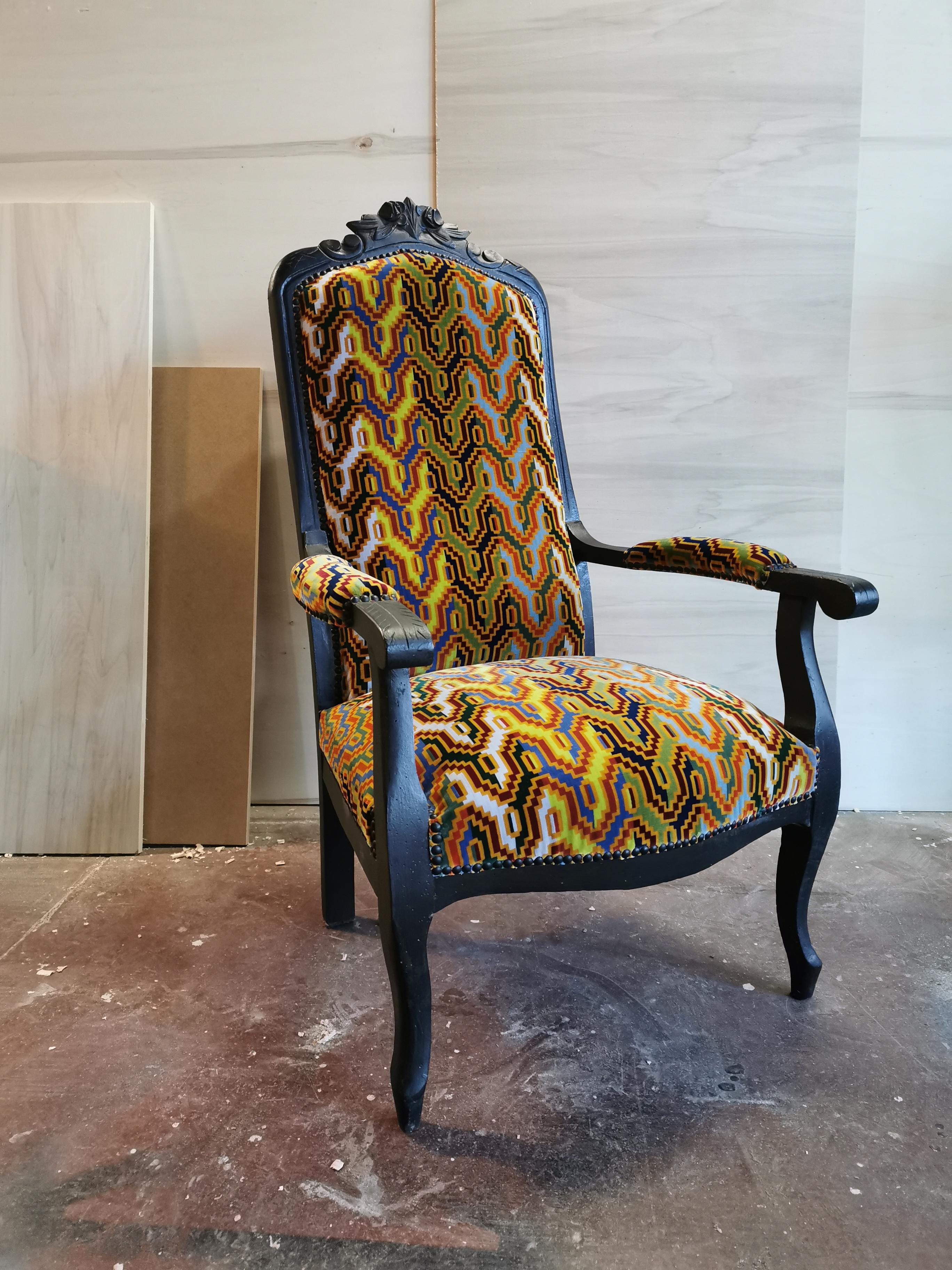 Restaurer Fauteuil Voltaire Moderne atelier vangansbeke tapissier d'ameublement rénovation mobilier