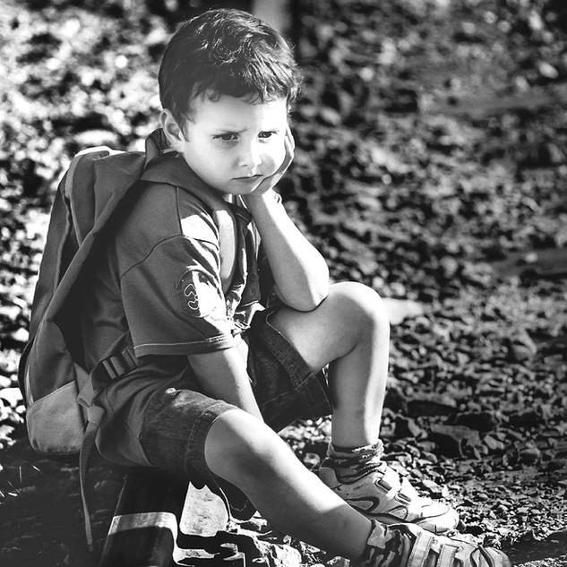 Portrait photo of a 5 year old boy