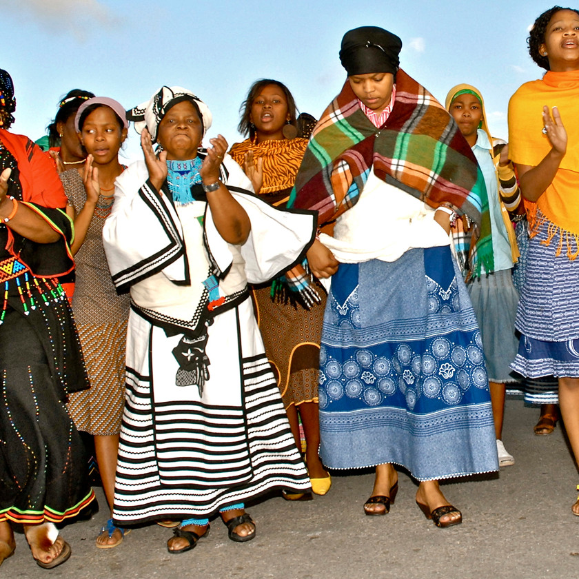 Dancing at Traditional Xhosa Wedding in Port Elizabeth South Africa