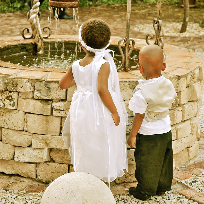Little girl and boy Traditional Xhosa Wedding in Port Elizabeth South Africa