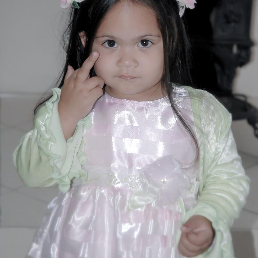 Little girl in fancy dress