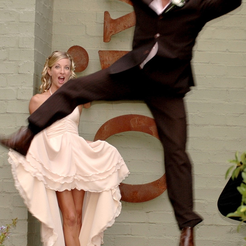 What is a wedding day without a spontaneous and highly surprising 'photobomb' moment!