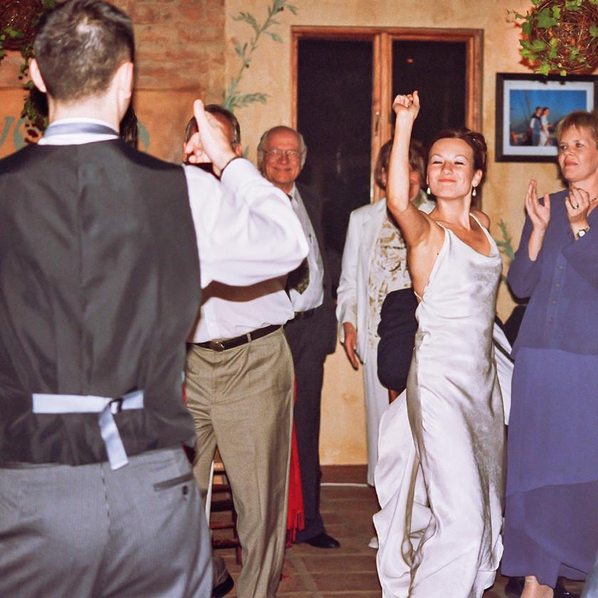 People dancing at wedding