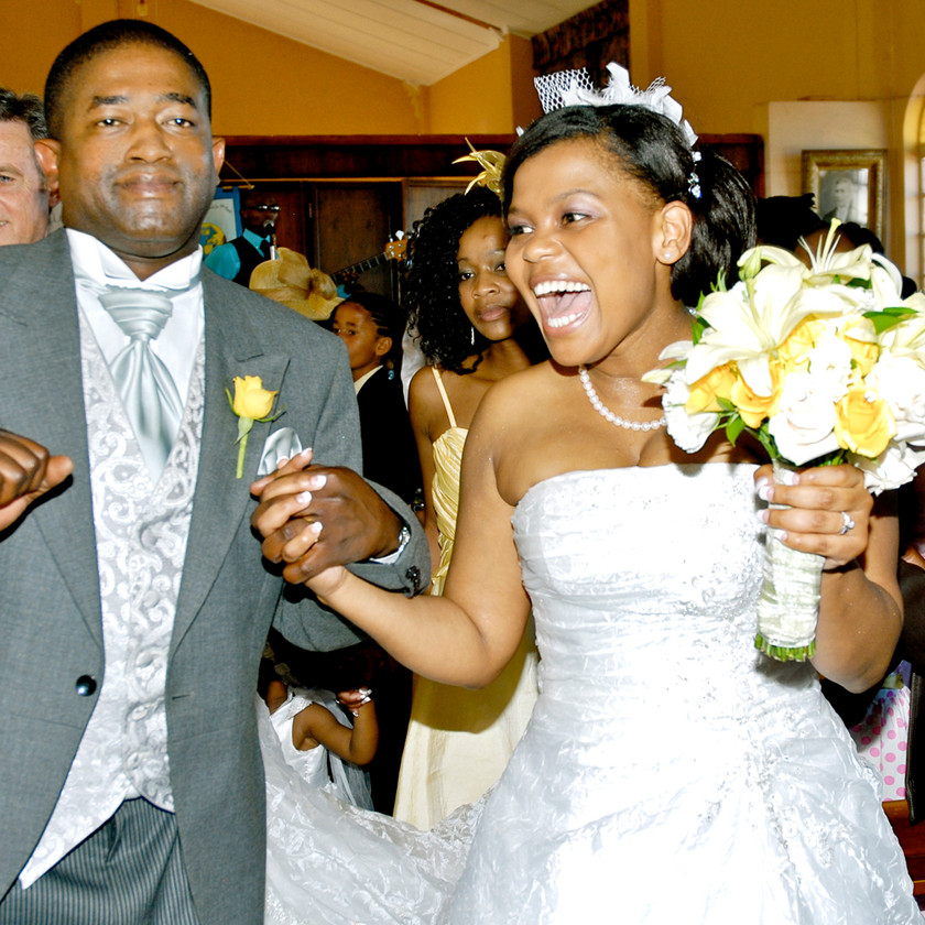 Bride and Groom at Traditional Xhosa Wedding in Port Elizabeth South Africa
