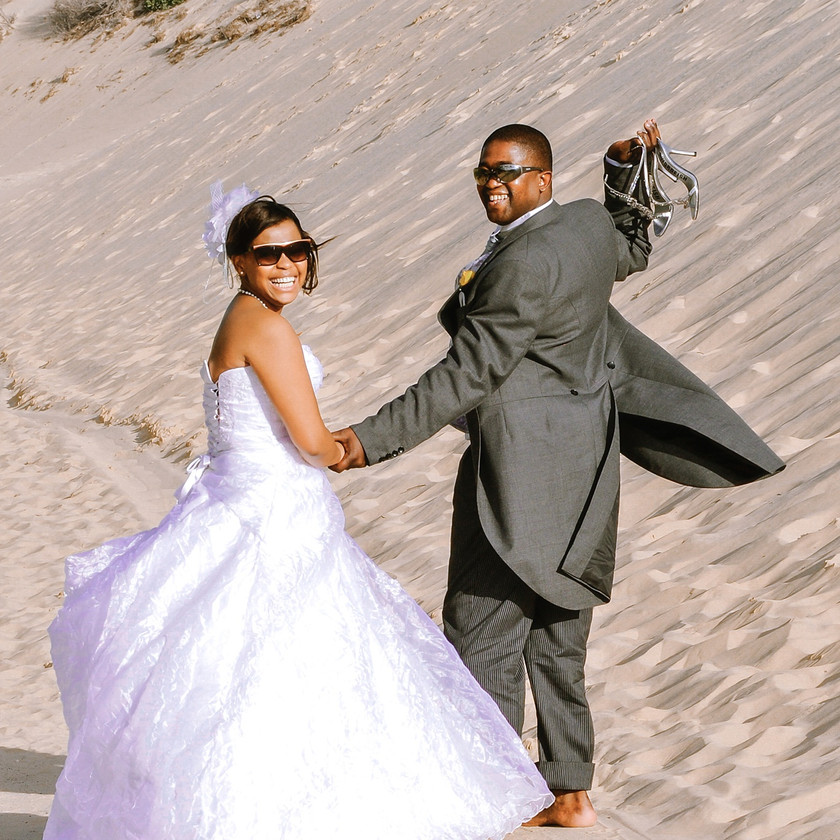 Bride and Groom Traditional Xhosa Wedding in Port Elizabeth South Africa