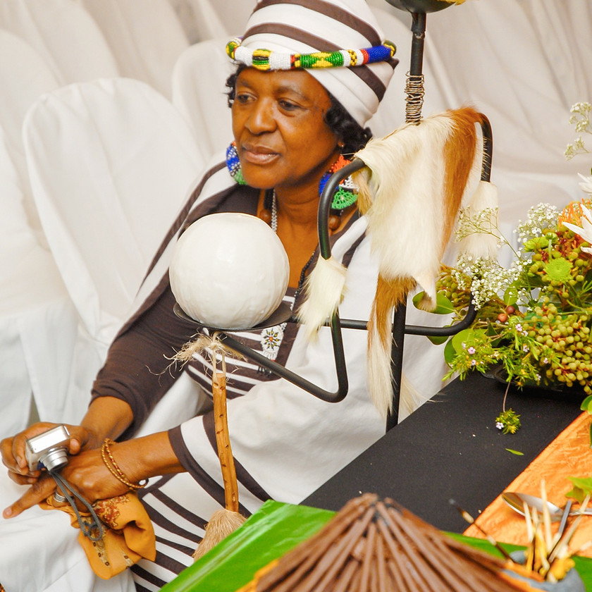 Woman at Traditional Xhosa Wedding in Port Elizabeth South Africa